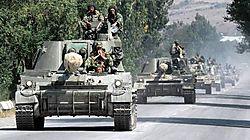 Chars russes à Gori_Dimitar Dilkoff AFP