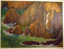 Diego Rivera, paysage, huile sur toile, 98x130 - 1956
