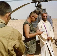 Messe avec le 1er RHC en Irak