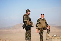 Patrouille dans la région de Wardak