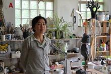 Xue dans son atelier